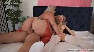 Big Booty BBW Tiffany Star Triple With Sex Toy Sean Lawless