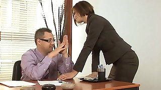 Horny Stepmom Visits Stepson In The Office