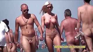 Big Boobs Nudist Amateurs Voyeur Beach Compilation Video