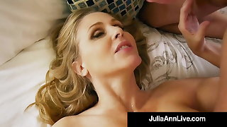 Mom I want to Fuck!? Julia Ann Sucks & Milks Her Step Son!
