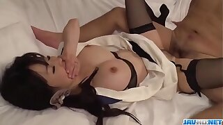 Spicy Yui Satonaka gets cock in each of her holes  - More at one's fingertips javhd.net