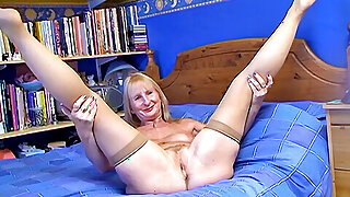 Matured British blonde wife with black load of shit