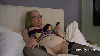 Sally keep a sharp lookout for phone sexual intercourse