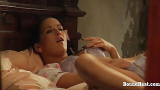 Ass Whipping Together with Kissing Dimension Lesbian Bit of crumpet Masturbates