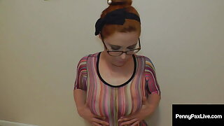 Slobbering Slut Penny Pax Gags On A Huge Fat Cock!