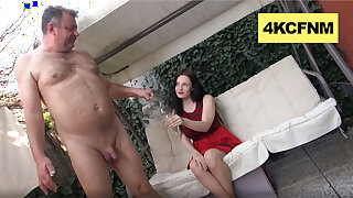 I Helped Grandpa Cum regarding the Backyard - CFNM