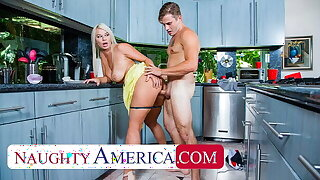 Naughty America - London River sneaks quickie connected with her son's