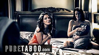PURE TABOO Step-Son Wants in the matter of Have Sex with Lesbian Step-Moms