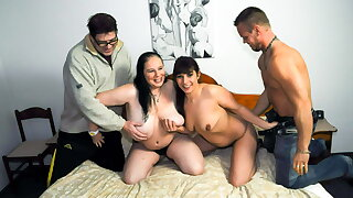 AmateurEuro -BBW GILF Hanne & Her BFF Elif O. Yon 4some Combo unite