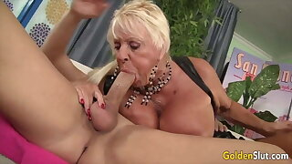 Golden Slut - Older Lady Blowjob Compilation Fidelity 21