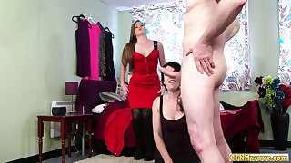 Cockhungry cfnm girls stroking hard shaft