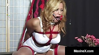 Bound Busty Asian Maxine X Made Back Cum In A Ratchet Gag!