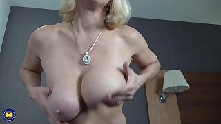 Granny with amazing tits and balmy fresh pussy