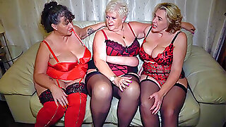 Three extended breasted mature amateurs