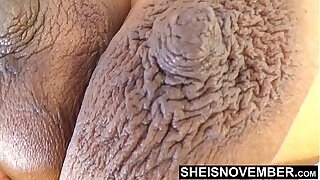 Ill-lighted Complexion Skin Girl With Attracting Large Dark Nipples and Huge Areolas Boobies Squeezed Rough In Slow Motion While Laying On Her Side , Beamy Breasts Sagging Clutches View Msnovember
