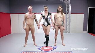 Vanessa Vega, Naked Wrestling, banged wide of Jason Michaels