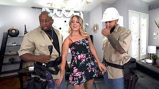 TV Repairman And His Apprentice DP Chunky Ass MILF Candice Dare