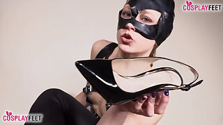 Two hot cosplayers demand to be worshipped as Gyrate Woman