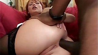 Hideous redhead MILF blows obese sulky weasel words