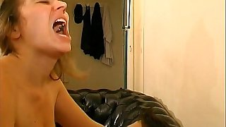Unshaved french milf gets anal fucked with the addition of swallows cum