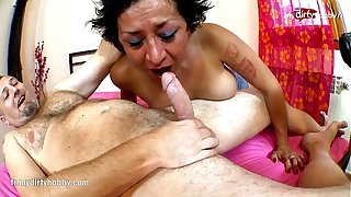 My Derisive Witch - Spanish MILF old bag gets penetrated fast