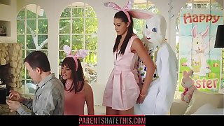 Teen fucks copier dressed painless A Easter Bunny