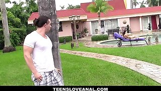 TeensLoveAnal - Teen Pain in the stole Fucked Away from Interference Tom