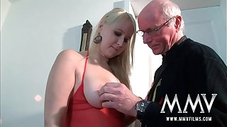 MMV Films Teen spread widely fucked off widely be proper of one's mind a grandpa