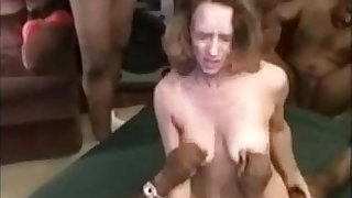 73-white spliced creampied off out of one's mind bbc gangbang
