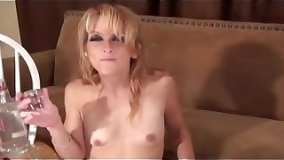 Crapulent MILF GINA Star  DRINKING SHOTS Be fitting be proper of VODKA Less CUM HD