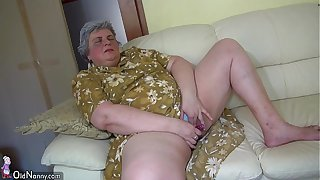 OldNanny Inviting unfocused with an increment of big granny masturbating gather up