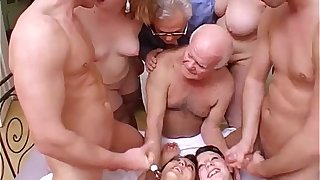 Foolish orgy there grandpa hither a smutty added to strange family!