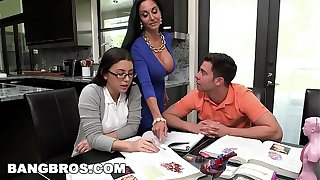 BANGBROS - Step Nurturer MILF Ava Addams Threesome With Teen Lallapalooza Summers